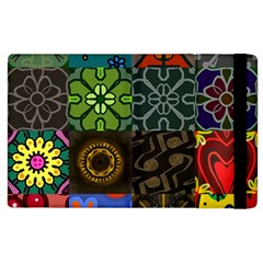 Digitally Created Abstract Patchwork Collage Pattern Apple Ipad 3/4 Flip Case by Nexatart