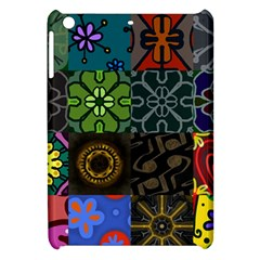 Digitally Created Abstract Patchwork Collage Pattern Apple Ipad Mini Hardshell Case by Nexatart