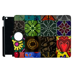 Digitally Created Abstract Patchwork Collage Pattern Apple Ipad 2 Flip 360 Case by Nexatart