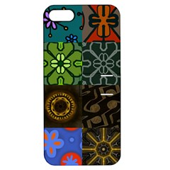 Digitally Created Abstract Patchwork Collage Pattern Apple Iphone 5 Hardshell Case With Stand