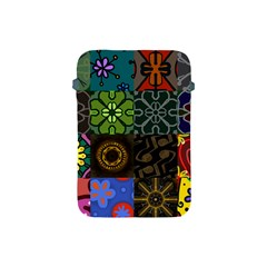 Digitally Created Abstract Patchwork Collage Pattern Apple Ipad Mini Protective Soft Cases by Nexatart