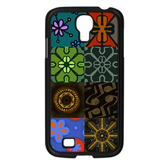 Digitally Created Abstract Patchwork Collage Pattern Samsung Galaxy S4 I9500/ I9505 Case (black) by Nexatart