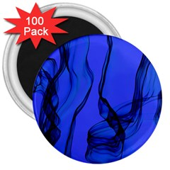 Blue Velvet Ribbon Background 3  Magnets (100 Pack) by Nexatart