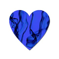 Blue Velvet Ribbon Background Heart Magnet by Nexatart