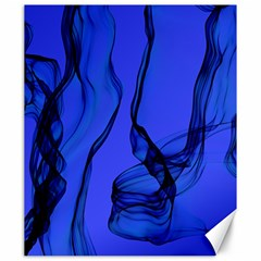 Blue Velvet Ribbon Background Canvas 20  X 24