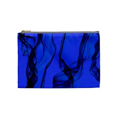 Blue Velvet Ribbon Background Cosmetic Bag (medium)  by Nexatart