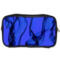 Blue Velvet Ribbon Background Toiletries Bags by Nexatart