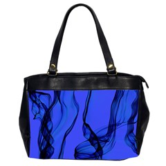 Blue Velvet Ribbon Background Office Handbags (2 Sides)  by Nexatart
