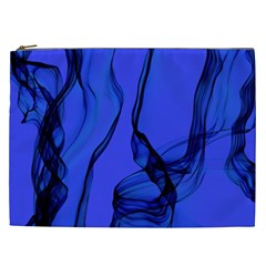 Blue Velvet Ribbon Background Cosmetic Bag (xxl)  by Nexatart