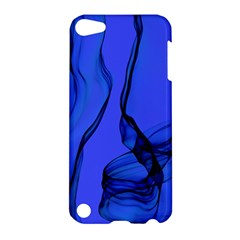 Blue Velvet Ribbon Background Apple Ipod Touch 5 Hardshell Case by Nexatart
