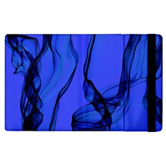 Blue Velvet Ribbon Background Apple Ipad 2 Flip Case by Nexatart