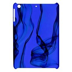 Blue Velvet Ribbon Background Apple Ipad Mini Hardshell Case by Nexatart