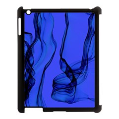 Blue Velvet Ribbon Background Apple Ipad 3/4 Case (black)