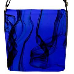 Blue Velvet Ribbon Background Flap Messenger Bag (s) by Nexatart