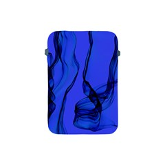 Blue Velvet Ribbon Background Apple Ipad Mini Protective Soft Cases by Nexatart