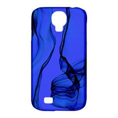 Blue Velvet Ribbon Background Samsung Galaxy S4 Classic Hardshell Case (pc+silicone) by Nexatart