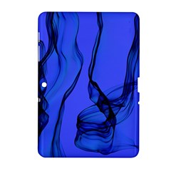 Blue Velvet Ribbon Background Samsung Galaxy Tab 2 (10 1 ) P5100 Hardshell Case  by Nexatart