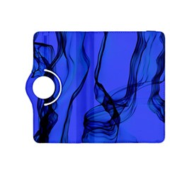Blue Velvet Ribbon Background Kindle Fire Hdx 8 9  Flip 360 Case by Nexatart