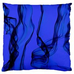 Blue Velvet Ribbon Background Large Flano Cushion Case (one Side) by Nexatart