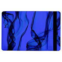 Blue Velvet Ribbon Background Ipad Air 2 Flip by Nexatart