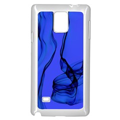 Blue Velvet Ribbon Background Samsung Galaxy Note 4 Case (white)