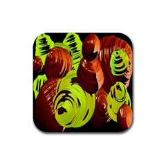 Neutral Abstract Picture Sweet Shit Confectioner Rubber Square Coaster (4 Pack)  by Nexatart