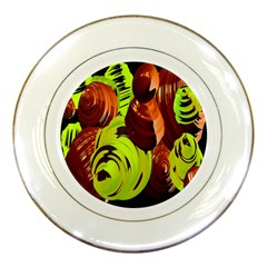 Neutral Abstract Picture Sweet Shit Confectioner Porcelain Plates by Nexatart