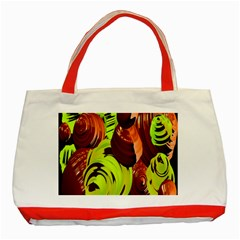 Neutral Abstract Picture Sweet Shit Confectioner Classic Tote Bag (red)
