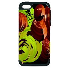 Neutral Abstract Picture Sweet Shit Confectioner Apple Iphone 5 Hardshell Case (pc+silicone)