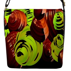 Neutral Abstract Picture Sweet Shit Confectioner Flap Messenger Bag (s)