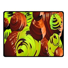 Neutral Abstract Picture Sweet Shit Confectioner Double Sided Fleece Blanket (small)
