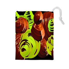 Neutral Abstract Picture Sweet Shit Confectioner Drawstring Pouches (large)  by Nexatart