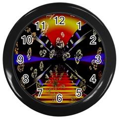 Diamond Manufacture Wall Clocks (black) by Nexatart