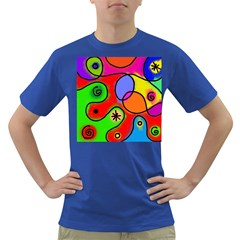 Digitally Painted Patchwork Shapes With Bold Colours Dark T Shirt