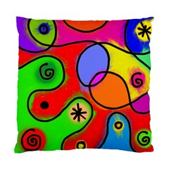 Digitally Painted Patchwork Shapes With Bold Colours Standard Cushion Case (one Side) by Nexatart