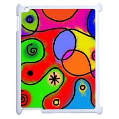 Digitally Painted Patchwork Shapes With Bold Colours Apple Ipad 2 Case (white) by Nexatart