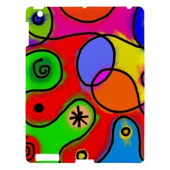 Digitally Painted Patchwork Shapes With Bold Colours Apple Ipad 3/4 Hardshell Case by Nexatart