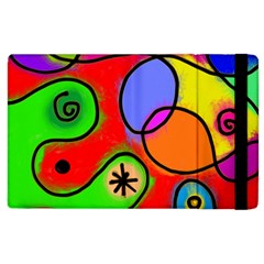 Digitally Painted Patchwork Shapes With Bold Colours Apple Ipad 3/4 Flip Case