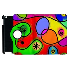 Digitally Painted Patchwork Shapes With Bold Colours Apple Ipad 3/4 Flip 360 Case by Nexatart