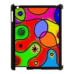 Digitally Painted Patchwork Shapes With Bold Colours Apple Ipad 3/4 Case (black)