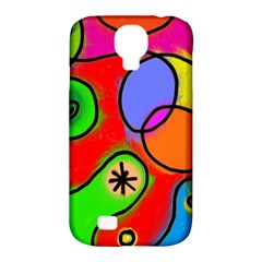 Digitally Painted Patchwork Shapes With Bold Colours Samsung Galaxy S4 Classic Hardshell Case (pc+silicone) by Nexatart
