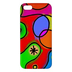 Digitally Painted Patchwork Shapes With Bold Colours Iphone 5s/ Se Premium Hardshell Case