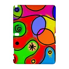Digitally Painted Patchwork Shapes With Bold Colours Galaxy Note 1