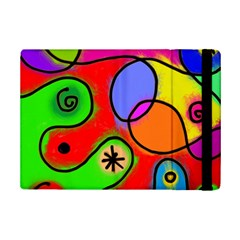 Digitally Painted Patchwork Shapes With Bold Colours Ipad Mini 2 Flip Cases