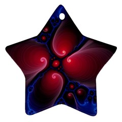 Color Fractal Pattern Ornament (star) by Nexatart
