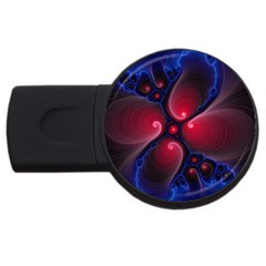 Color Fractal Pattern Usb Flash Drive Round (2 Gb)