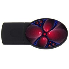 Color Fractal Pattern Usb Flash Drive Oval (4 Gb)