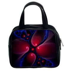 Color Fractal Pattern Classic Handbags (2 Sides)