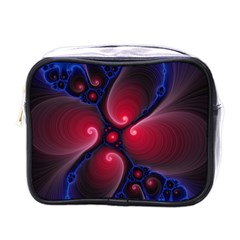 Color Fractal Pattern Mini Toiletries Bags by Nexatart