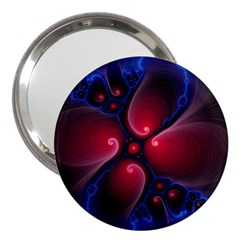 Color Fractal Pattern 3  Handbag Mirrors